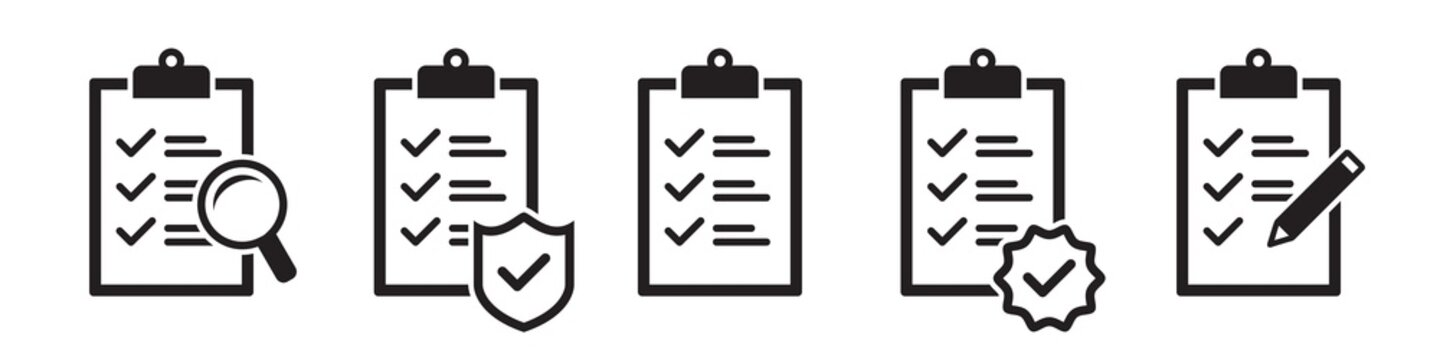 Checklist vector icons collection in simple design
