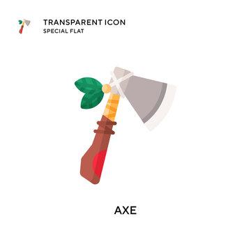 Axe vector icon. Flat style illustration. EPS 10 vector.