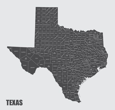 Texas counties map
