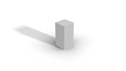 Blank White Box Scale top view 1-1-2 with shadow