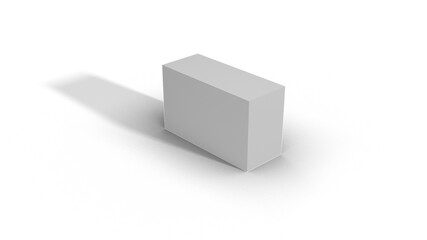 Blank White Box Scale top view 2-5-3 with shadow