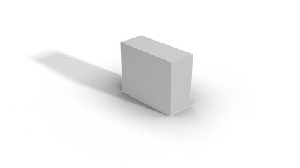 Blank White Box Scale top view 2-5-4 with shadow
