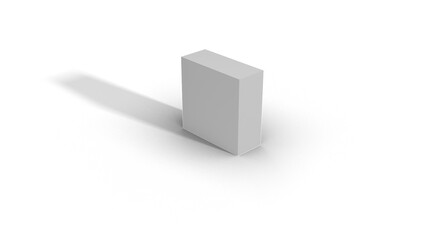 Blank White Box Scale top view 2-5-5 with shadow