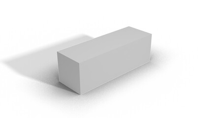 Blank White Box Scale top view 3-1-1 with shadow