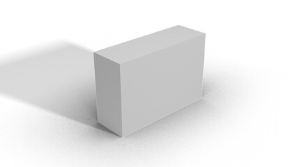 Blank White Box Scale top view 3-1-2 with shadow