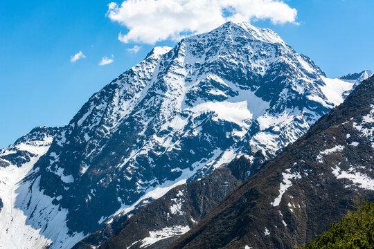 Habicht mountain in the Stubai Alps in Tyrol, Austria.