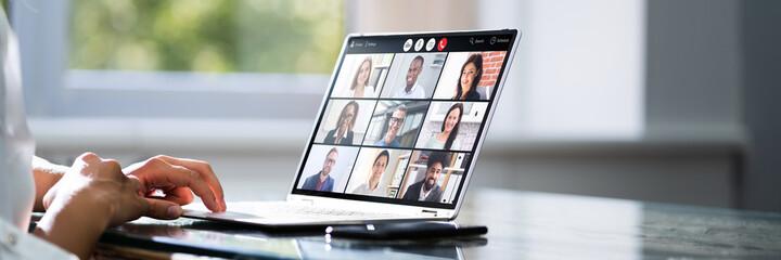 Fototapeta Video Conference Webinar Call obraz