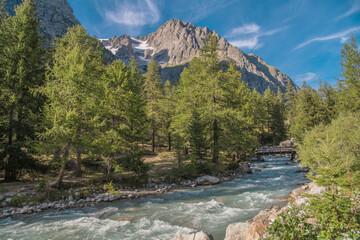 Wall Mural - Scenic Italian Alps Summer Landscape