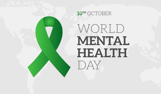 World Mental Health Day Background Illustration Banner