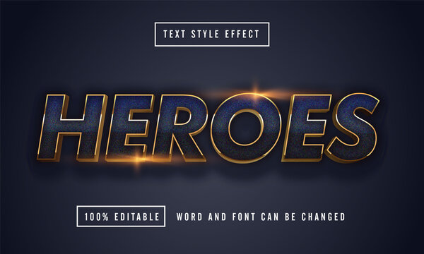 Blue Heroes Text Effect Editable premium download