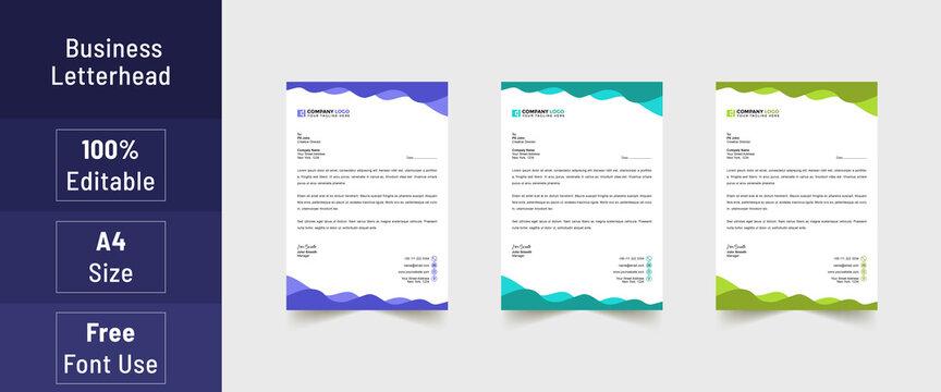 Letterhead format, business style letterhead design template. Company letterhead template designs. Letterhead, Template
