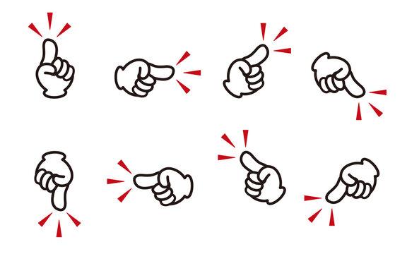 指差し 位置を差す イラスト素材