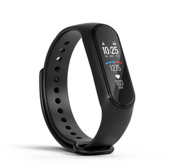 Abstract black fitness watch, sport bracelet, fitness band or fitness activity tracker isolated on white background - 3d rendering