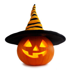 Door stickers Wall Decor With Your Own Photos Halloween pumpkin in witches hat