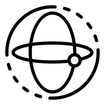 Aerospace gyroscope icon. Outline aerospace gyroscope vector icon for web design isolated on white background
