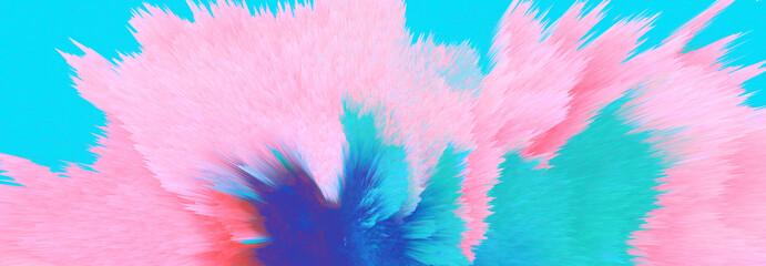 Digital Illustration. Color blot splash. Abstract background.