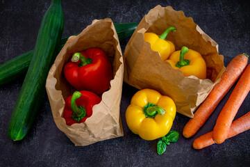 légumes du marché bio