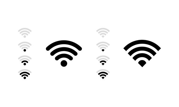 Wifi signal. Wireless connection. Vector on isolated white background. EPS 10