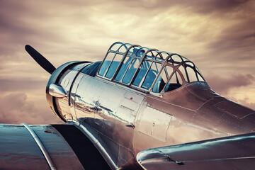 historical aircraft against a dramatic sky