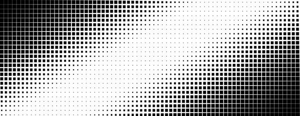 Photo sur Plexiglas Pop Art Vertical gradient of black and white squares. Halftone texture. Vector illustration Monochrome dots background.