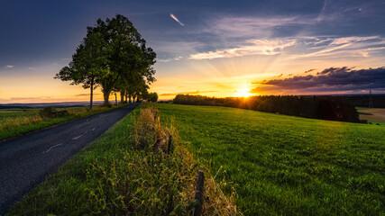 Sonnenuntergang auf dem Auenberg
