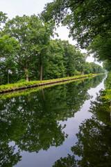 Water canal in Belgium, province Antwerpen near Retie