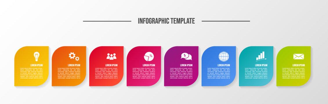 Modern infograph template. Flowchart. Vector