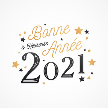 Bonne et heureuse année 2021 - Carte de voeux