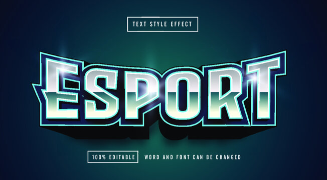 Editable text style effect - Editable text effect template - Sport Text Style