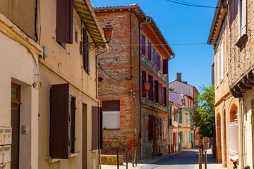 Image of Narrow streets Muret city in Haute-Garonne, southwestern France