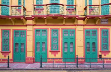 Fototapete - portuguese colonial architecture in Macau, China