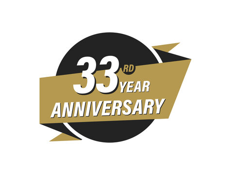 33 Year Anniversary Vector images Design Illustration