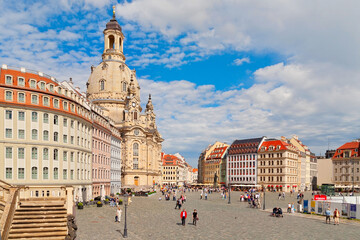 Blick auf die Frauenkirche in Dresden, Deutschland