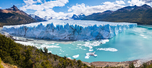 Perito Moreno Glacier is a glacier in Los Glaciares National Park. Last growing glacier despite climate change