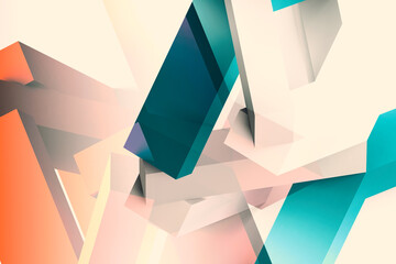 Abstract colorful low poly cgi background, digital 3d