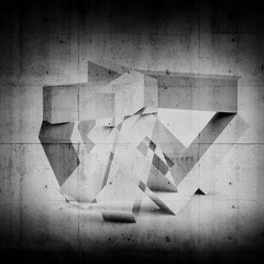 Abstract digital graphic background. 3d and concrete