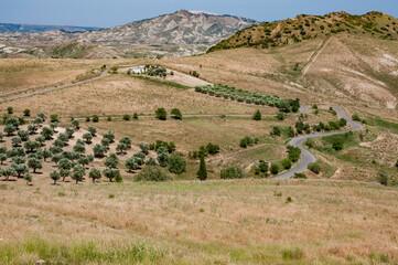 A summer landscape of Basilicata, Italian region