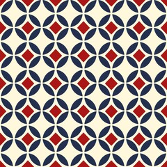 fabric Retro Color style seamless pattern. Abstract vector background.