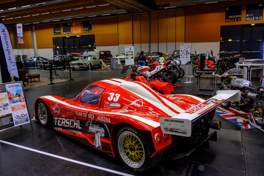 wels, austria, 13 sep 2020, racecar at the classic austria, exhibition of old cars, tractors and motorbikes