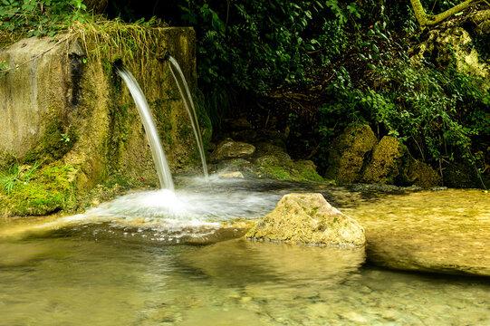 Shot of wellsprings in nature