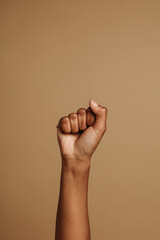 Close up of fist