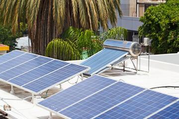 Solar panels, Solar water heater