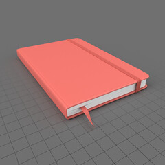Hardcover notebook with strap 2