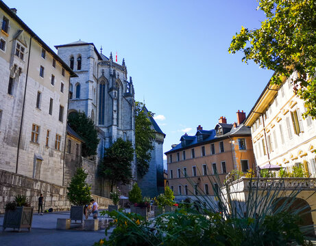 View of a noble palace, residence of the Dukes of Chambery and center of government in the Middle Ages