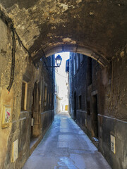 Pedestrian alley in the historic center of Chambery