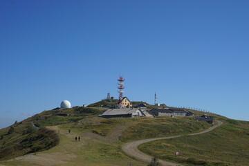 September 12th 2020, Kopaonik Serbia: Pancicev vrh military or civil radar station on top of the mountain in summer day