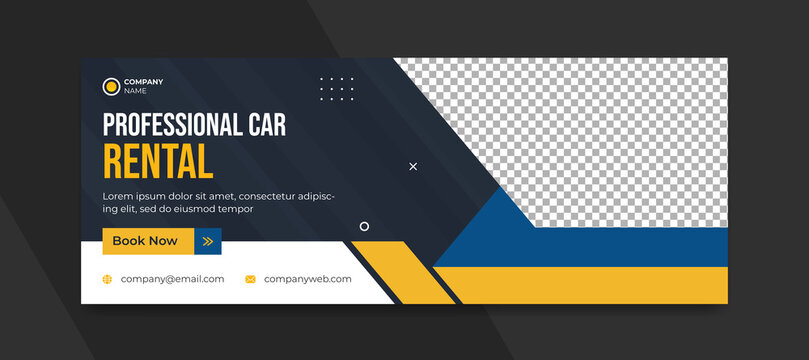Rental car social media cover post template