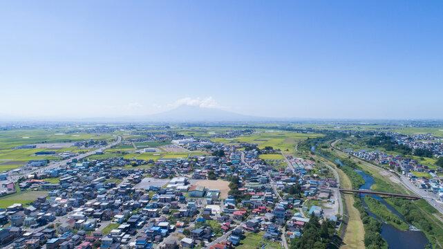 《青森県》黒石市の空撮