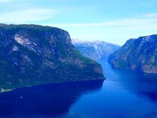 Fjord landscape Aurlandsfjord in Norway