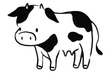 年賀状素材・牛のイラスト